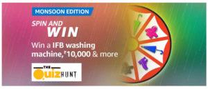 Amazon Mansoon Edition Spin & Win Quiz