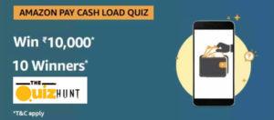 Amazon Pay Cash Load Quiz
