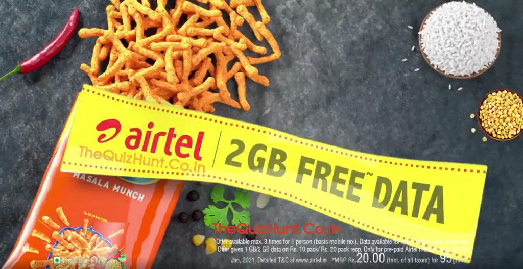 Kurkure Airtel 2GB Free Data Offer