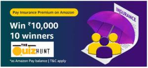 Amazon Pay Insurance Quiz