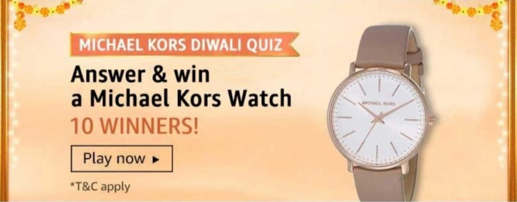 Amazon Michael Kors Diwali Quiz