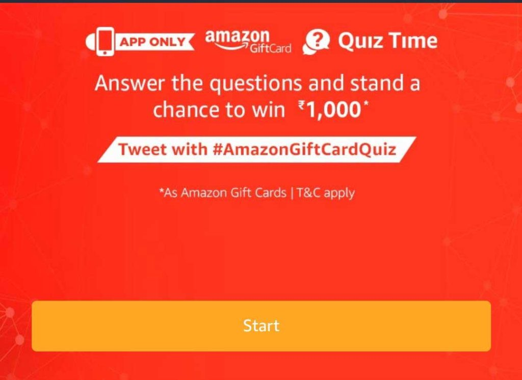 Amazon Pay Gift Cards Quiz Answers
