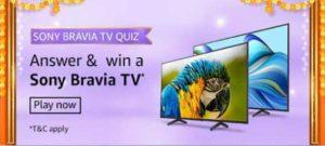 Amazon Sony Bravia TV Quiz