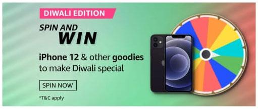 Amazon Diwali Edition Spin and Win Quiz