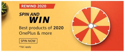 Amazon Rewind 2020 Spin and Win Quiz Answers
