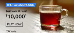 Amazon Tea Lovers Quiz Answers