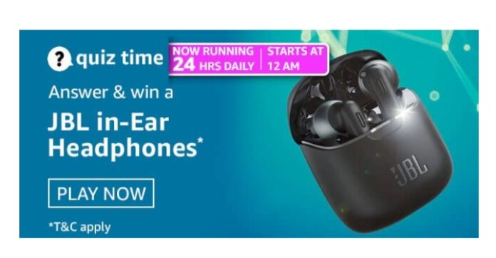 Amazon Quiz 2nd March Answers: Win JBL in-Ear Headphone