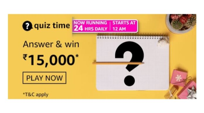 Amazon Quiz 3rd March Answers: Win Rs.15,000 Amazon Pay Balance