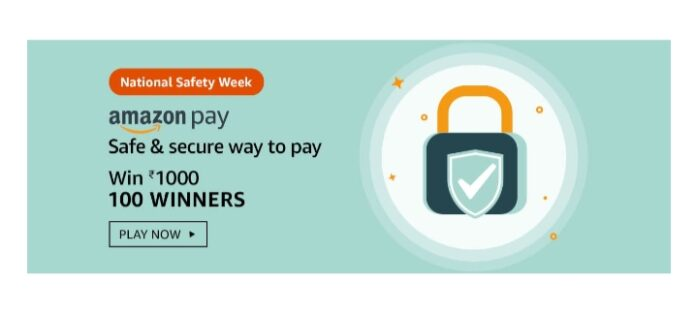 Amazon National Safety Week Quiz Answers: Win Rs.1000 Amazon Pay Balance