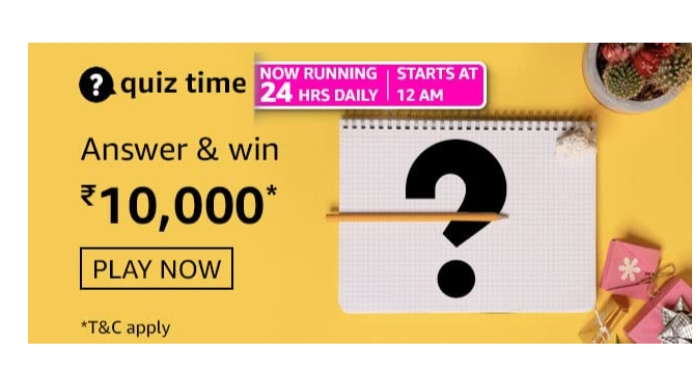 Amazon Quiz 6th March Answers: Win Rs.10,000 Amazon Pay Balance