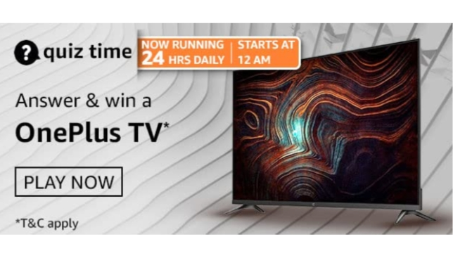 Amazon Quiz 7th March Answers: Win OnePlus TV
