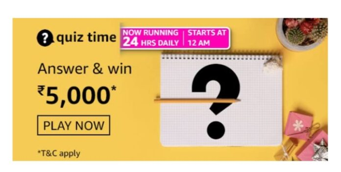 Amazon Quiz 8th March Answers: Win Rs.5000 Amazon Pay Balance