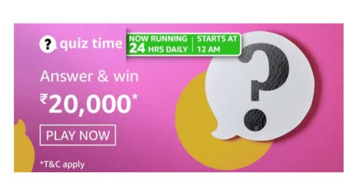 Amazon Quiz 10th March Answers: Win Rs.20000 Amazon Pay Balance
