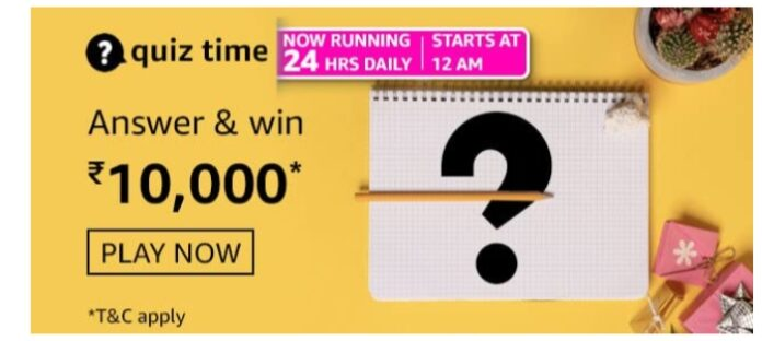 Amazon Quiz 15 March Answers: Win Rs.10,000 Pay Balance