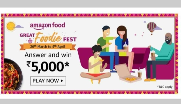 Amazon Great Foodie Fest will be live on dates 26 March to 4 April 2021