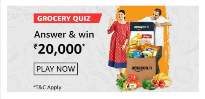 Amazon Grocery Quiz Answers: Win Rs.20,000 Amazon Pay Balance
