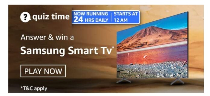 Amazon 1st April Quiz Answers: Win Samsung Smart Tv